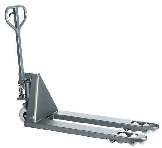 Transpalette Semi Inox 304, fourches 1130 mm, roue Nylon, 2500 kg
